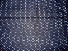 "Navy Blue Beige Stars Fabric  Patriotic Stars   45""   By The Yard"