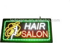 hidly edgelit acrylic led neon sign board design with attractive hair salon $10~$50