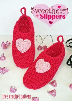 Sweetheart Slippers « The Yarn Box