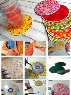 cd art projects old cds & cd art . cd art for kids . cd art projects old cds Diy Crafts Videos, Diy Crafts To Sell, Crafts For Kids, Arts And Crafts, Sell Diy, Cd Diy, Diy Décoration, Coaster Crafts, Diy Coasters