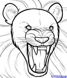 72 best art images drawings sketches painting drawing Lion Diagram Labeled easy drawing of lion how to draw a lion roaring roaring lion step step safari drawing art gallery