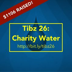 There's 7 more days to support my (birthday) Charity Water campaign, and so far we've raised $1106! Join us?! https://my.charitywater.org/tibz/tibz-26