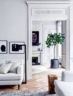 Scandinavian Deisgn Inspired Interiors gray and white living room