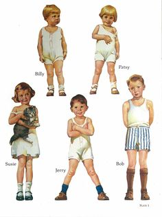 Here's Francis Tipton Hunter's Alden Family Paper Dolls reproduction by Dover. I also have a partial original set,...