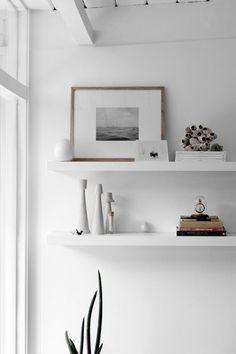 """scandinaviandesignerblog: """"SCANDINAVIAN DECOR & DESIGNER BLOG: http://scandinaviandesignerblog.tumblr.com/ Brand: IKEA (the shelves) """""""
