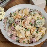 Salada de Macarrão com Queijo e Presunto