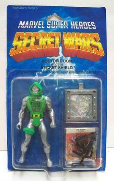 "Dr. Doom and his ""secret shield,"" from the Marvel Super Heroes Secret Wars toy line"