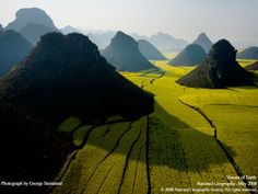 landscapes nature China, National Geographic, Yunnan aerial photography farmland aerial view