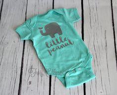 Little Peanut newborn bodysuit - one piece infant layette elephant design The Babys, Baby Boy Newborn, Baby Kids, Cute Babies, Baby Baby, Branding, Everything Baby, Baby Bodysuit, Boy Onesie