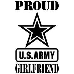 Proud US Army Girlfriend America Star Custom Select by BVStickers