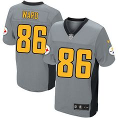 8017f7329aa Nike Steelers  83 Heath Miller Grey Shadow With 80TH Patch Men s Stitched  NFL Elite Jersey