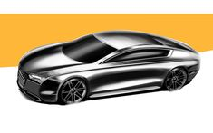 Audi GTron Concept by Iman Baradaran Sedati - Design Sketch