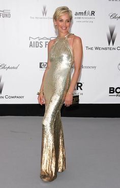 Sharon Stone at the amfAR Cinema Against AIDS Gala (2007)