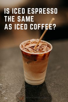 Have you been to your favorite coffee shop recently and noticed a new type of cold coffee you've never tried before? I had a chance to try an iced espresso instead of an iced coffee for the first time and want to tell you about the differences. #coffee #espresso Cold Coffee Drinks, Fresh Coffee, Hot Coffee, Iced Coffee, Coffee Shop, Coffee Cream, Coffee Type, Black Coffee, Coffee Dessert