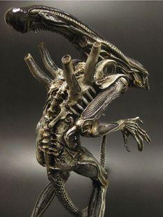 "''Necronomicon"" Takeya Alien: Alien Vs Predator, Predator Action Figures, Giger Alien, Hr Giger, Alien Creatures, Fantasy Creatures, Xenomorph Types, Dark Artwork, Tyranids"