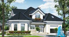 proiect-de-casa-cu-parter-mansarda-si-garaj-pentru-un-automobil-3 Beautiful House Plans, Beautiful Homes, House Design Pictures, Dream Mansion, Lets Stay Home, Craftsman Style House Plans, Village Houses, Sims House, Facade Design