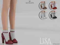 """madlensims: """" Madlen Lisa Shoes Mesh modifying: Not allowed. Recolouring: Allowed. (Please add original link in the description) Hope you'll like it! Enjoy! DOWNLOAD 3D Preview """""""
