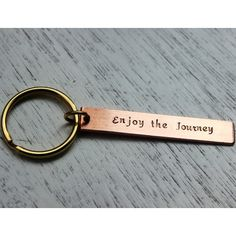 enjoy the journey for best friend Personalized keychain, custom... ($14) ❤ liked on Polyvore featuring accessories, key chain, fob key chain and engraved key chains