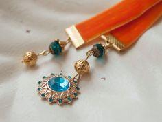 NEW Beautiful Orange Ribbon Handmade Bookmark for by MadameBlossom, €6.50