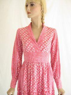 Vintage 70s Rare India Cotton Boho Mini Dress. by TimeBombVintage