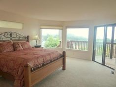 Master bed with amazing views