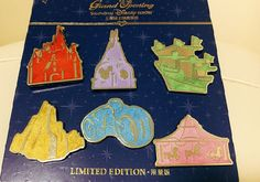 Details about Shanghai Disney Grand Opening Limited Edition pins: Castle Tower Carousel Ship Pink Fantasia Carousel. This is for Disney trading pins from the Grand Opening of Shanghai Disney. Disney Pin Trading, Disney Magic, Disney Art, Disney Pixar, Disney Pins Sets, Enchanted Castle, Disney Pin Collections, Disneyland Pins, Hidden Mickey