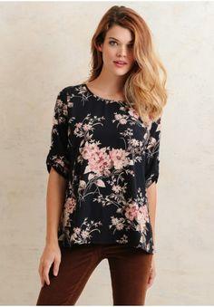 Addison Floral Blouse  at shopruche.com
