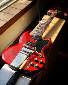 Here's a rocker all the way from 1965. This Gibson SG Special is equipped with two smokin' P-90 pickups and a Vibrola tailpiece. Don't wait, make it yours! Available now at elderly.com/vault. Gibson Sg, Vaulting, All The Way, Instruments, Electric Guitars, Musical Instruments, Tools