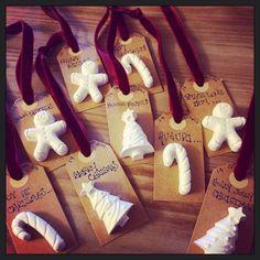 Christmas tags; gessetti profumati; decorazione albero; natale