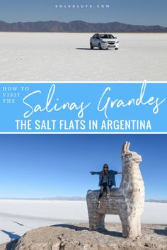 How to visit the Salinas Grandes in Argentina, the Salt Flats in the Northwest province Jujuy. An easy day trip from Salta and Purmamarca, when to visit and how to take pictures #Argentina #SouthAmerica