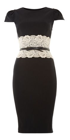 Lipsy Lace Pencil Dress