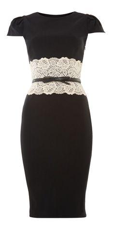 Lipsy Lace Pencil Dress