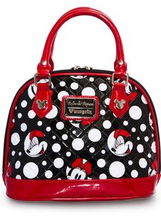 Minnie Mouse Polka Dot Mini Dome - Loungefly | Inked Shop #inked #inkedshop #handbag #Minnie #mouse #disney