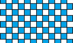 Checkered Outlined Turquoise and Black