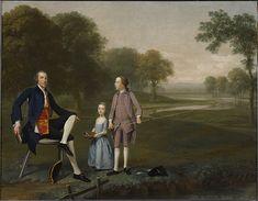 """Richard Moretan, Esq. of Tackley with His Nephew and Niece John and Susanna Weyland"", Arthur Devis, 1757; CAI 2001.1.6"