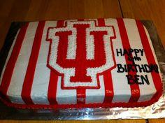 IU Hoosiers birthday cake