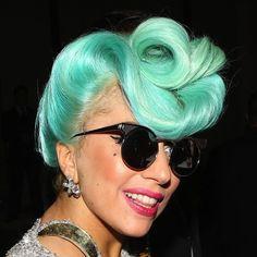 Lady-Gaga-Teal-Blue-Hair