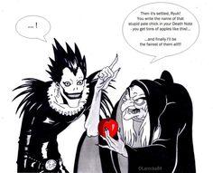 Death Note  Ryuk apple anime image