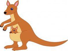 Free clip art of a cute kangaroo and baby joey Kangaroo Baby, Baby Joey, Animal Decor, Cartoon Pics, Art Images, Photo Booth, Scooby Doo, Clip Art, Drawings