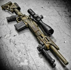 Merica >=) The CPR-X precision rifle with glass at American flag rail cover by Metal as fuck. Military Weapons, Weapons Guns, Airsoft Guns, Guns And Ammo, Revolver, Ar15 Pistol, Remington 700, Custom Guns, Assault Rifle
