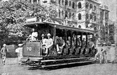 Trams began in Madras on 7 May, 1985 it was the first electric tram system in India. Run by the Madras Electricity System (MES) Colonial India, British Colonial Style, Old Pictures, Old Photos, History Of India, Vintage India, British Government, India People, Historical Monuments