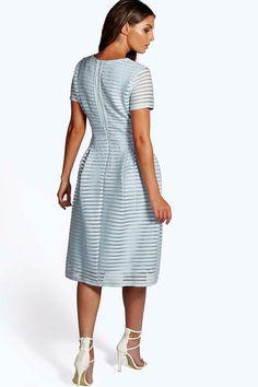 Boutique Zaira Full Skirted Prom Midi Dress