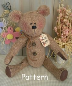 PDF E-Pattern 18 Olde Bear Vintage Antique por cottonwoodcountry