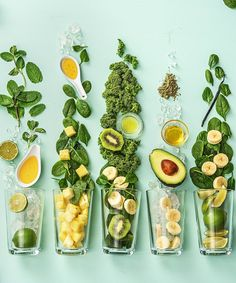 5 super easy and healthy green smoothie recipes | More snack, breakfast, and dinner recipes on blog.hellofresh.com