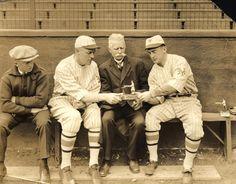 Dinty Gearin, Bill Rosy Ryan, Jim Mutrie, and Frankie Frisch, New York Giants…