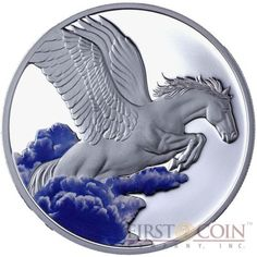 Tokelau Pegasus $5 Creatures of Myth & Legend Colored Silver Coin Year of…