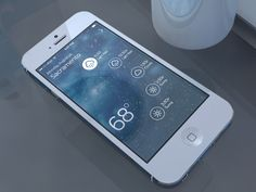 Wather app concept | Designer: Chris Slowik - http://dribbble.com/shots/1212896-Weather-Rebound-gif #ui #transitions #animation #app