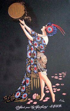 Art Nouveau Vila Pub Perfums Poster