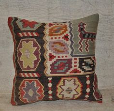 Killim Pillow Cover,couch Pillow,vintage Cushion,bohemian Kilim Pillow Moderate Price Bed & Bath Linens