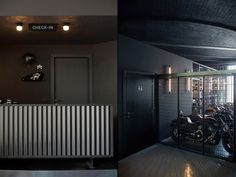 Filling Station Motel Garage and Concept store by Visual Display, Udine – Italy Shops, Filling Station, Concrete Counter, Visual Display, Entrance Gates, Boutique Hotels, Retail Design, Motel, Vintage Furniture